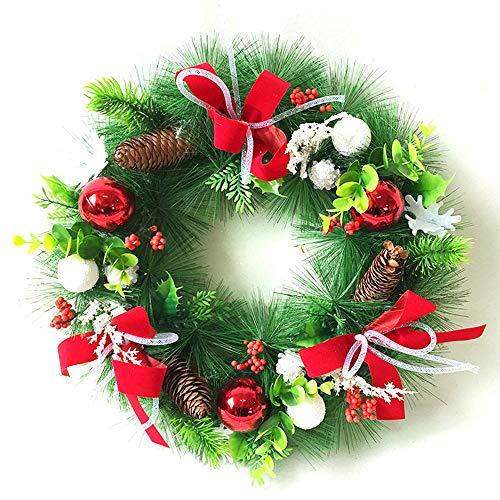 GYH Guirlande de Noël - Décoration de Noël Guirlande Porte Suspension Fenêtre Décoration 40cm Décoration de Noël Cadeau de Noël /&