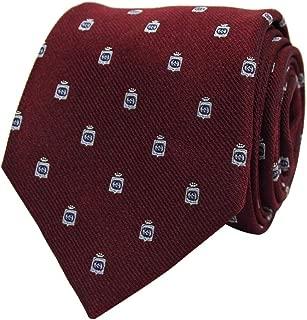 Silk Tie for Men Woven Cormorant Bordeaux Dark Red 375998