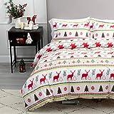 Bedsure Christmas Duvet Cover Set, 3 Pieces Queen Size Comforter Cover Set 90