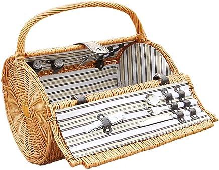 Tragbare Picknicktasche der der der Rattan-Picknickkorbfamilienreise im Freien Speicherkorbfaß-Picknickkasten (Farbe   Natural) B07PQKKMF2 | Zürich  abacd2
