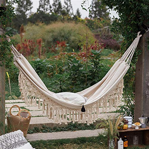 Hammock 2 Person Hammock Boho Large Brazilian Macrame Fringe Double Deluxe Hammock Swing Net Chair Out/indoor Hanging Hammock