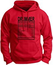 Drummer Gift Nutritional Facts Gag Gifts Funny Premium Hoodie Sweatshirt Large DpRed