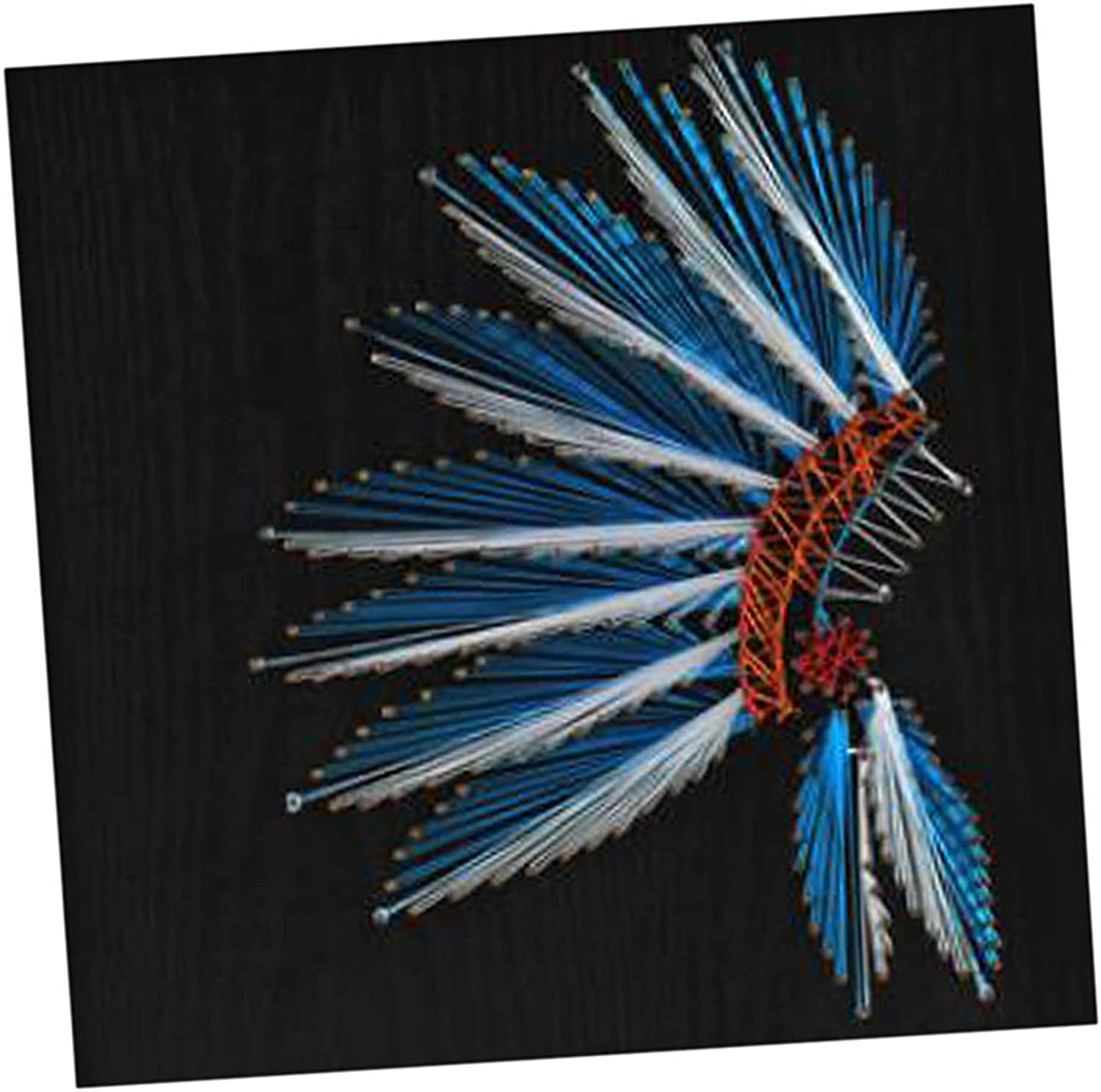 Baosity Feather Shape Crafts String Art Kits for Beginners Handmade Painting Home Decor 40 X 40cm