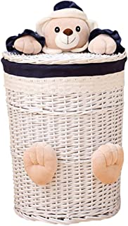 Sac à linge HXF - Panier de rangement pour salle de bain ou vêtements sales - Durable, Osier, W29*H33cm