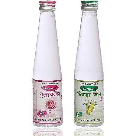 Ganpati Herbal Kewra Water 250 ml & Rose Water 250 ml Combo Pack
