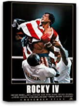 Funny Ugly Christmas Sweater Rocky IV Canvas Wall Art Rocky Balboa Canvas Art for Office Sylvester Stallone Portrait Rocky Movie Poster Iconic American Actor Photo 32