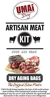 UMAi Dry Premium Dry Age Bags for Meat | Dry Aging Meat Kit for Refrigerator | Simple at Home Method for Ribeye Striploin ...