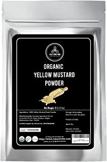 Naturevibe Botanicals Yellow Mustard Seed Powder, 1 Pound - 100% Pure, Natural | Adds Flavor