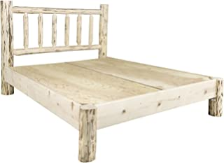 Montana Woodworks Montana Collection Queen Platform Bed, Clear Lacquer Finish