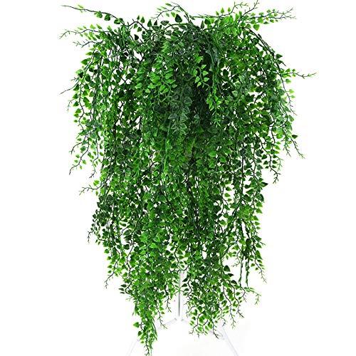Ironhorse Künstliche Pflanze Reben Wandbehang Grün Pflanze Dekorative Simulationspflanzen Orchidee Gefälschte Blume Rattan Raum