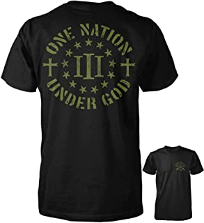 Three Percenter Shirt - One Nation Under God