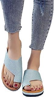 Sandals Women Comfy, Bunion Sandals Correction, Wedges Open Toe Platform Sandal, Shoes Summer Beach Suitable for Everyday ...
