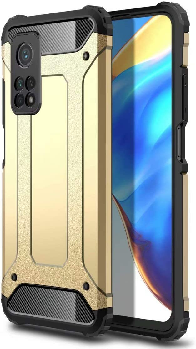 BAIDIYU Funda para ASUS ROG Phone 5s Pro, El diseño de Doble Capa de absorción de Impactos, TPU Suave + PC Dura es Adecuado para ASUS ROG Phone 5s Pro.(Oro)