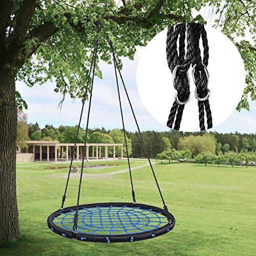 """HYCLAT Saucer Tree Swing - 40""""Spider Web Tree Swing Net Swing Platform..."""