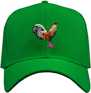 Custom Baseball Hat Game Cock Embroidery Animal Name Structured Cap Hook & Loop