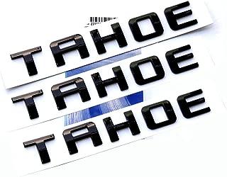 Yoaoo 3x OEM Black Tahoe Nameplate Emblems Letter Badge for Gm 07-16 Tahoe Glossy Shiny
