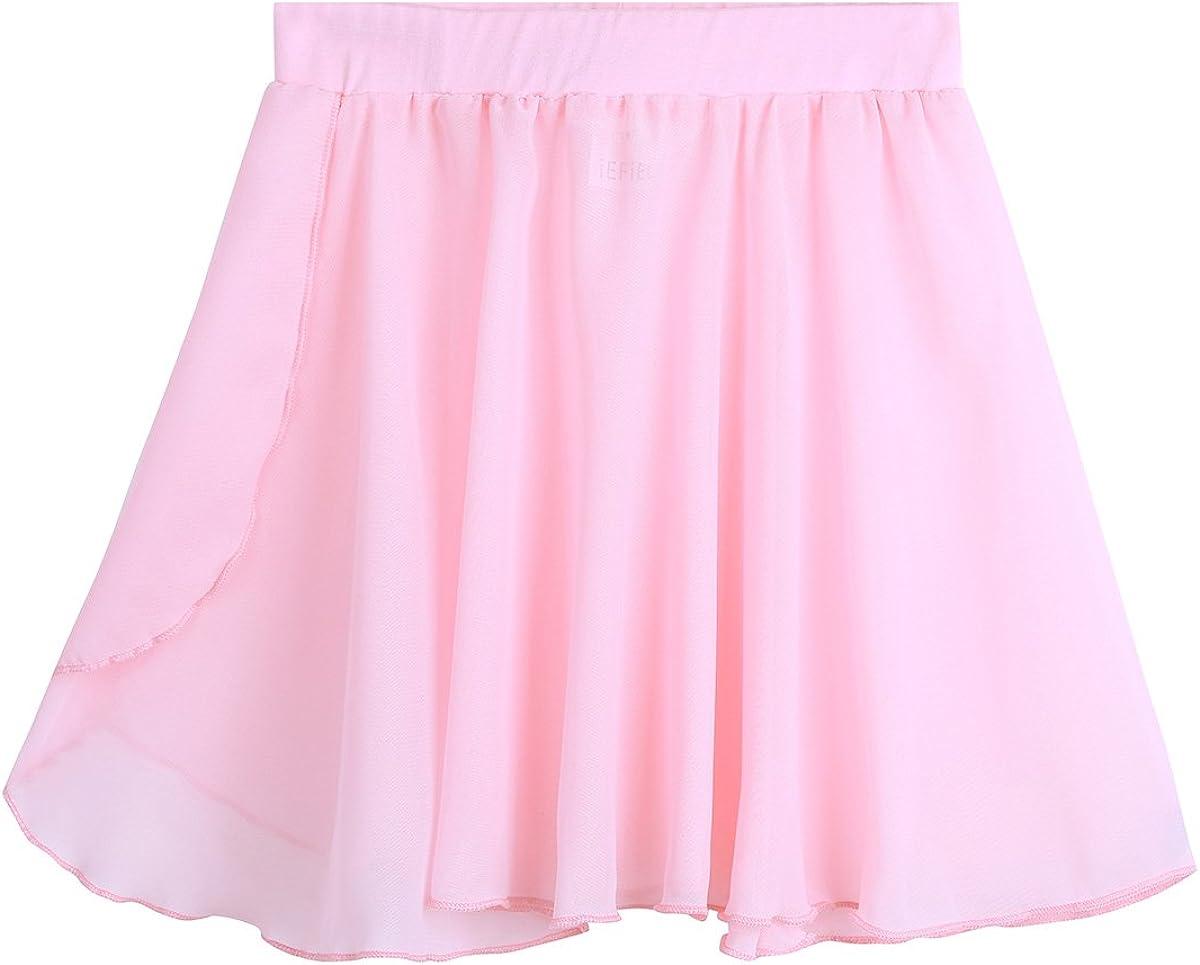 dPois Kids Girls' Gymnastics Ballet quality assurance 2021 spring and summer new Bas Dance Skirt Chiffon Wrap