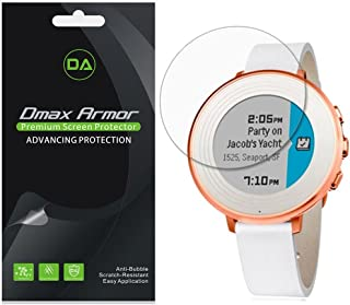 [6-Pack] Dmax Armor for Pebble Time Round 14mm/20mm Screen Protector, Anti-Bubble HD Clear Screen Shield