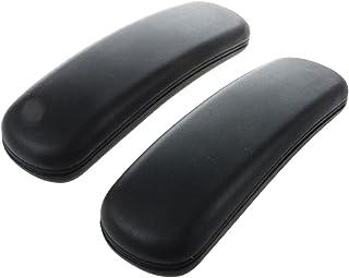 Senmubery Reposabrazos de repuesto para silla de oficina, 24,8 x 7,6 cm, color negro