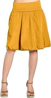 5d36be04934 CASPAR RO004 Jupe hiver en velours pour femme - jupe boule avec ceinture  stretch - plusieurs