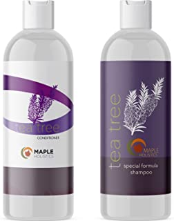 Tea Tree Oil Shampoo and Hair Conditioner Set - Natural Anti Dandruff Treatment for Dry and.