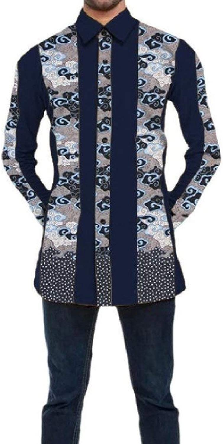 Abetteric Mens Casual Dashiki Cotton Plus Size Africa Business Dress Shirts