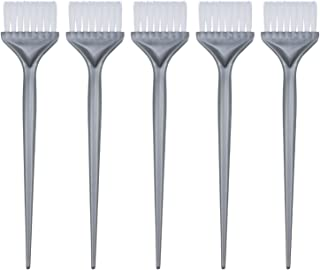 Mudder 5 Pack Hair Dye Coloring Brushes Hair Coloring Dyeing Kit Handle Salon Hair Bleach Tinting DIY Tool (Silver Grey)