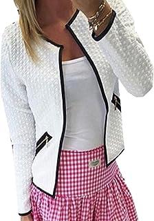 XTXレディースフィットopen-frontソリッドショートクラシック小柄カジュアルブレザーコートジャケット