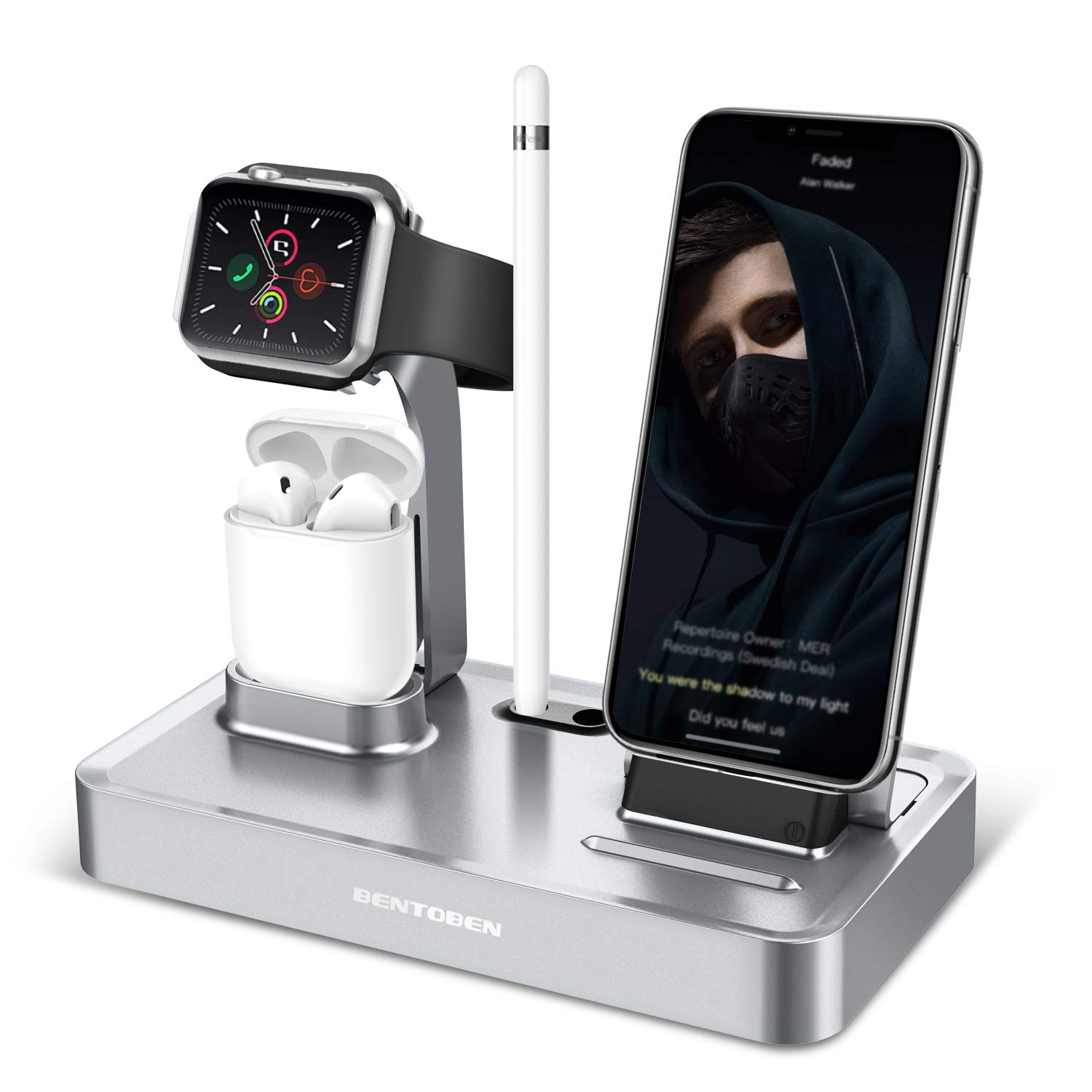 BENTOBEN Phone Stand, Apple Watch Stand, Titular de Carga Holder ...