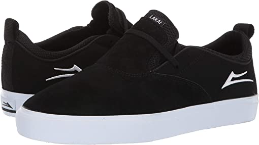 Black/White Suede