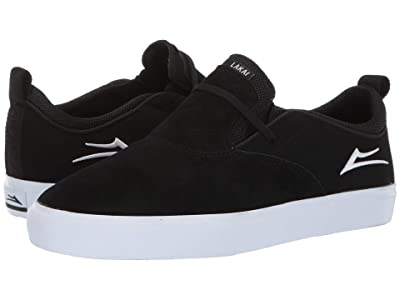 Lakai Riley Hawk 2 (Black/White Suede) Men