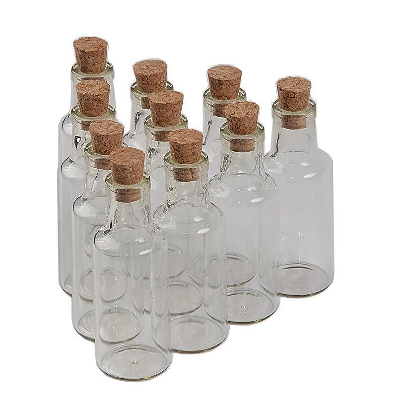 TAI DIAN 12pcs 25ml Glass Bottles with Cork Small Transparent Mini Empty Bottle Glass Vials Jars (12, 25ml)