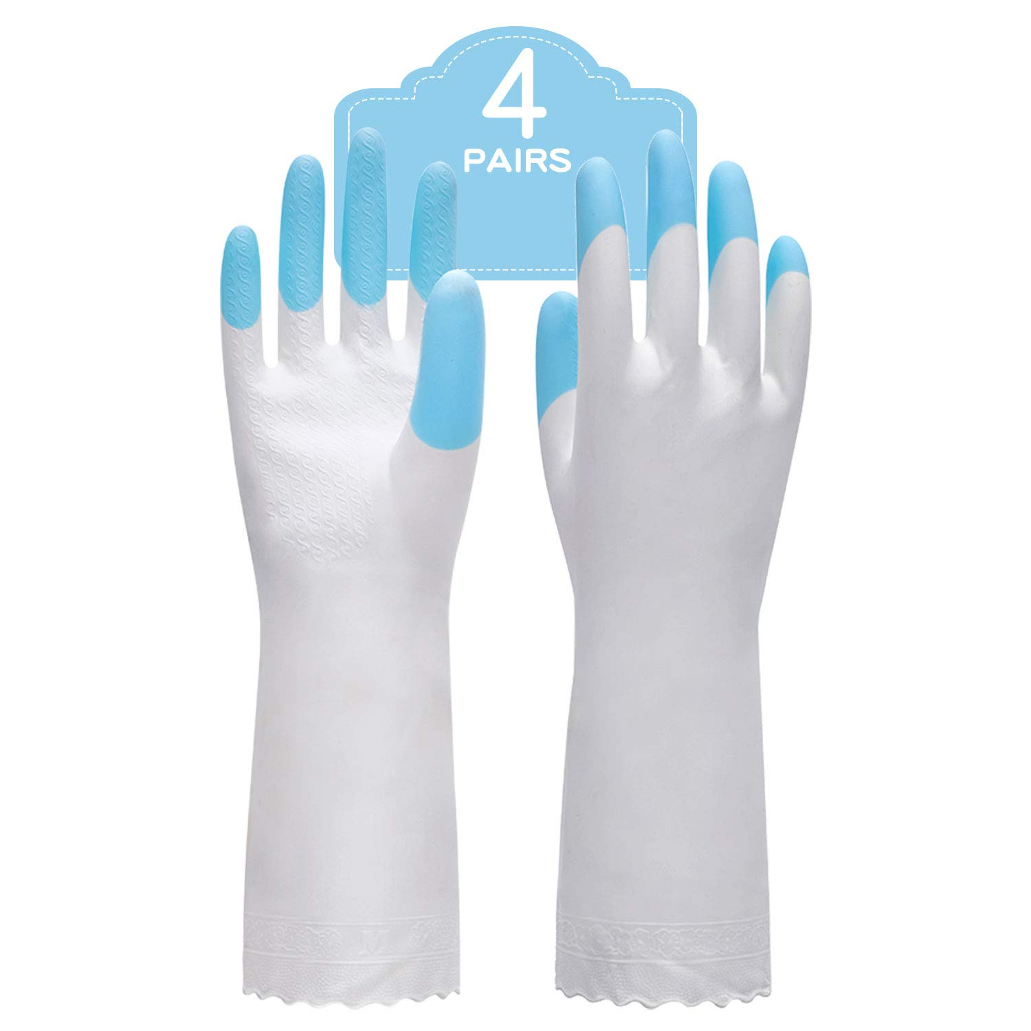 Safety Gloves Double Sided PVC Grip Reusable Workwear PPE Home Garden