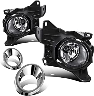 AUTOSAVER88 Factory Style Chrome Fog Lights For Nissan Pathfinder 2013 2014 2015 2016 (Clear Lens with Bulbs & Wiring Harness)