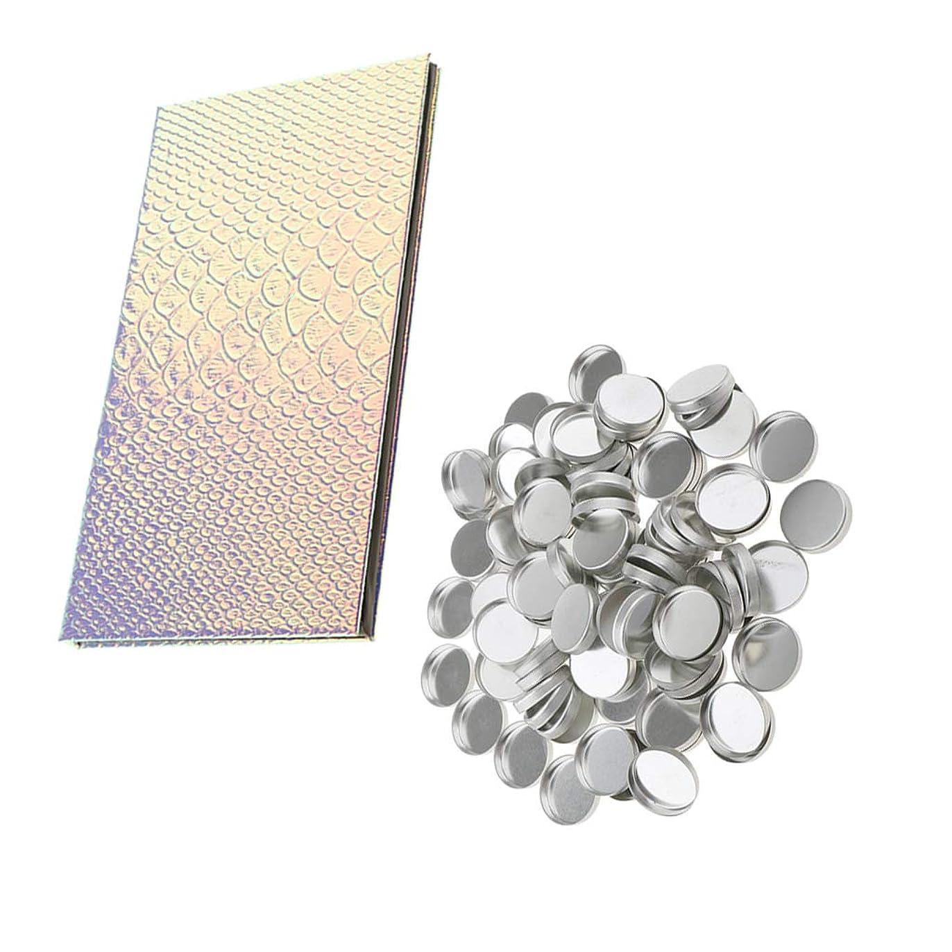 意気揚々優雅アジア磁気パレット1個 丸型ミニケース約100個入り コスメ収納 空パレット DIY アイシャドウ メイク オーガナイザーボックス ホルダー