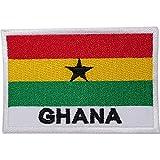 Aufnäher mit Ghana-Flagge, bestickt, zum Aufnähen, Afrika, Rasta, Reggae