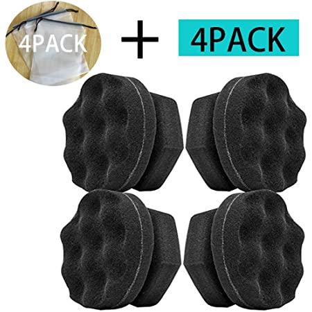 2 Pieces Tire Dressing Applicator Tire Shine Applicator Dressing Pad Tire Cleaner Sponge Large Hex Grip Design for Applying Tire Shine Dressing Vinyl Rubber and Trim Accessories Black
