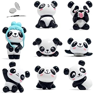 Refrigerator Magnets, Fridge Magnets Panda, 8 Pcs Kitchen or Office Magnets used for Memo Boards, Whiteboards, Maps, Dry Erase Board, Bulletin Board Funny Decoration (8)