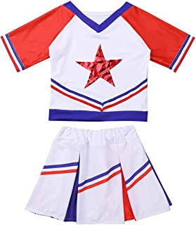 ACSUSS Girls Cheer Cheerleading Costumes Students High School Musical Uniforms Fancy Dress Outfits