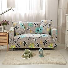 YIERYAO Bankovertrek, 1 2 en 3 4-zits beddensprei, Idyllische bloemen, Easy Stretch, elastische stof, bankhoes 3 Sitzer 190-230cm C