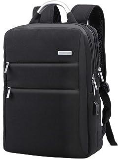 XQXA ビジネスリュック バックパック 大容量 15.6インチノートPC収納 USBケーブル 防水 軽量 多機能のポケット 通勤 通学 出張 旅行(黒)