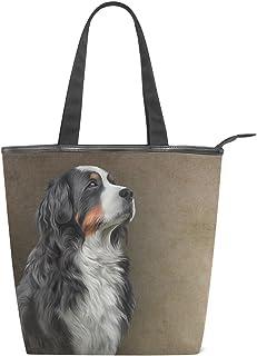 alaza Tote Leinwand Umhängetasche Berner Sennenhund Handtasche