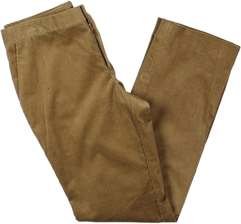 Lauren Ralph Lauren Womens Quartilla Corduroy MidRise Straight Leg Pants Tan 8