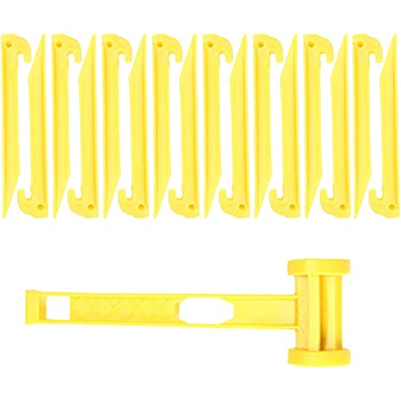 OMUKY Plastic Tent Pegs Durable Spike Hook Awning Camping Caravan Pegs Accessory