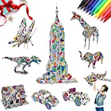 AYUQI Rompecabezas para Colorear 3D, SPECOOL Juguetes Kit de Colorear para niños, DIY Arts Crafts Puzzle Kit, Regalo Navidad de cumpleaño para niños Niñas