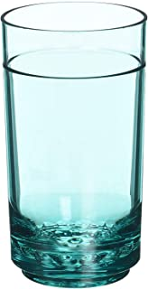 Drinique ELT-TA-TEL-4 Elite Tall Unbreakable Tritan Highball Glasses, 14 oz (Set of 4), Teal