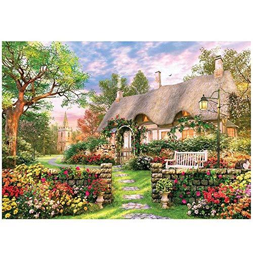 qingyuge Romantisches Gartenhaus Holz 3x3- Puzzle...