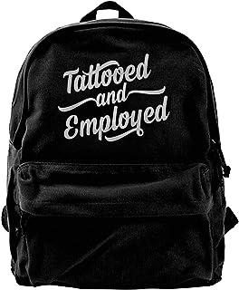 NJIASGFUI Mochila de lona con tatuajes y bolsa de hombro para gimnasio, senderismo, portátil, para hombres y mujeres
