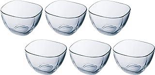 アデリア ガラス ボウル クリア 最大9.8×高6.2cm プレーン スクエア深鉢M 6個セット 日本製 P-6326