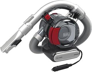 BLACK+DECKER Flex Aspiradora de coche, 12 V con cable (BDH1200FVAV), hierro/rojo (renovado)